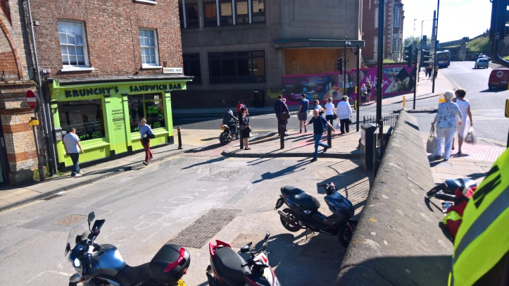Motorcyclist in Tanners Row