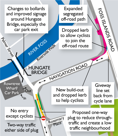 A map produced by CoYC showing the proposed changes