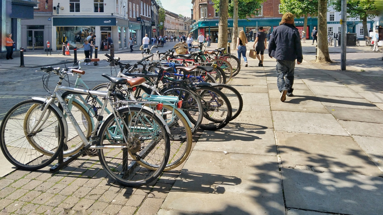 Cycle parking in Parliament Street, York